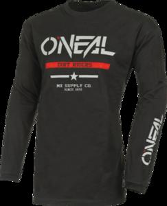 O'NEAL ELEMENT Cotton Jersey SQUADRON V.22 Black/Gray