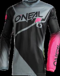O'NEAL ELEMENT Women´s Jersey RACEWEAR V.22 Schwarz/Grau/Pink