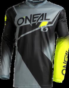 O'NEAL ELEMENT Jersey RACEWEAR V.22 Schwarz/Grau/Neon gelb