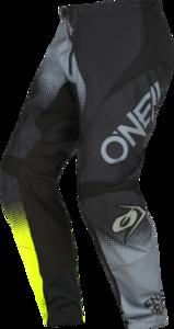 O'NEAL ELEMENT Pants RACEWEAR V.22 Black/Gray/Neon gelb