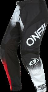O'NEAL ELEMENT Pants RACEWEAR V.22 Black/White/Red