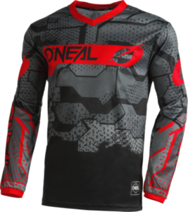 O'NEAL ELEMENT Youth Jersey CAMO V.22 Schwarz/Rot