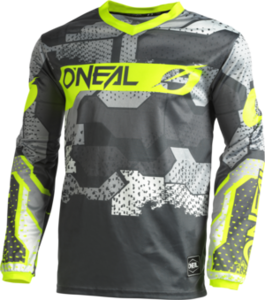 O'NEAL ELEMENT Youth Jersey CAMO V.22 Gray/Neon gelb