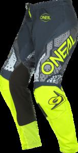 O'NEAL ELEMENT Pants CAMO V.22 Gray/Neon yellow
