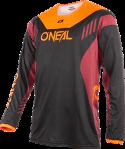 O'NEAL ELEMENT FR Jersey HYBRID V.22 Schwarz/Rot/Orange