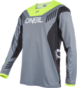 O'NEAL ELEMENT FR Jersey HYBRID V.22 Gray/Neon gelb