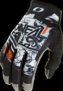 O'NEAL MAYHEM Nanofront Glove SCARZ V.22 Black/Gray/Orange