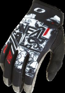 O'NEAL MAYHEM Nanofront Handschuh SCARZ V.22 Schwarz/Weiß/Rot