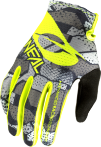 O'NEAL MATRIX Youth Glove CAMO V.22 Gray/Neon yellow