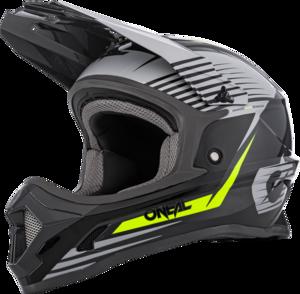 O'NEAL 1SRS Youth Helm STREAM V.21 Grau/Neon gelb