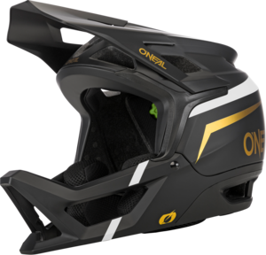 O'NEAL TRANSITION Helm FLASH V.21 Schwarz/Weiß/Gold