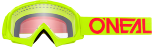 O'NEAL B-10 Youth Brille SOLID V.18 Neon gelb/Rot