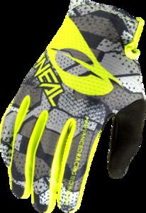 O'NEAL MATRIX Handschuh CAMO V.22 Grau/Neon gelb