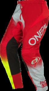 O'NEAL ELEMENT Pants RACEWEAR V.22 Red/Gray/Neon gelb