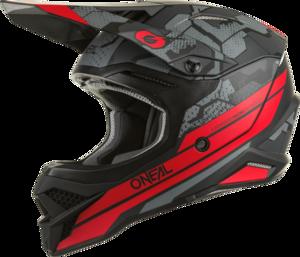 O'NEAL 3SRS Helm CAMO V.22 Schwarz/Rot