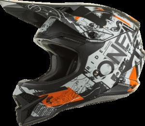O'NEAL 3SRS Helmet SCARZ V.22 Black/Gray/Orange