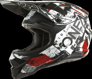 O'NEAL 3SRS Helm SCARZ V.22 Schwarz/Weiß/Rot