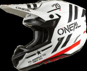 O'NEAL 5SRS Polyacrylite Helm SQUADRON V.22 Weiß/Schwarz