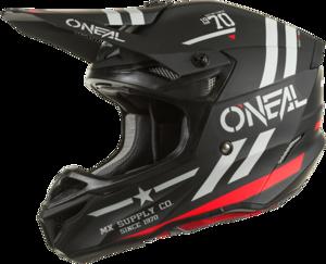 O'NEAL 5SRS Polyacrylite Helm SQUADRON V.22 Schwarz/Grau