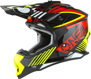 O'NEAL 2SRS Youth Helm RUSH V.22 Rot/Neon gelb