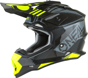 O'NEAL 2SRS Helm RUSH V.22 Grau/Neon gelb