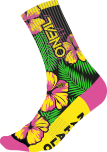 O'NEAL MTB Performance Sock ISLAND V.22 Pink/Grün/Gelb