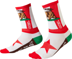 O'NEAL MTB Performance Sock CALIFORNIA V.22 Rot/Weiß/Braun