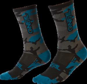 O'NEAL MTB Performance Sock CAMO V.22 Gray/Blue/Black
