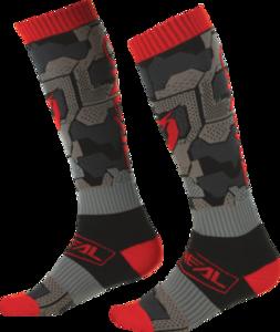 O'NEAL PRO MX Socke CAMO V.22 Schwarz/Rot
