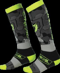 O'NEAL PRO MX Socke CAMO V.22 Grau/Neon gelb