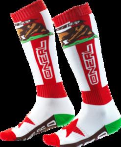 O'NEAL PRO MX Sock CALIFORNIA V.20 Red/White/Brown