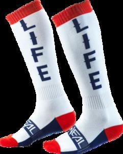 O'NEAL PRO MX Socke MOTO LIFE V.20 Weiß/Rot/Blau
