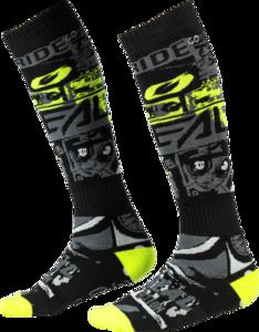 O'NEAL PRO MX Sock RIDE V.21 Black/Neon gelb