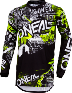O'NEAL ELEMENT Jersey ATTACK V.18 Black/Neon gelb