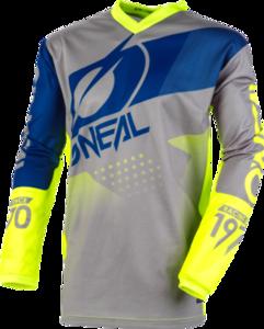 O'NEAL ELEMENT Jersey FACTOR V.20 Grau/Blau/Neon gelb