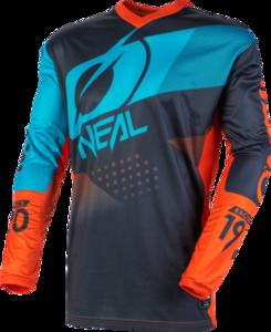 O'NEAL ELEMENT Jersey FACTOR V.20 Grau/Orange/Blau