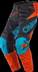 O'NEAL ELEMENT Hose FACTOR V.20 Grau/Orange/Blau 28