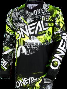 O'NEAL ELEMENT Youth Jersey ATTACK V.18 Schwarz/Neon gelb