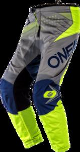 O'NEAL ELEMENT Youth Hose FACTOR V.20 Grau/Blau/Neon gelb
