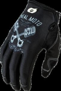 O'NEAL MAYHEM Nanofront Handschuh PISTONS II V.19 Schwarz/Weiß
