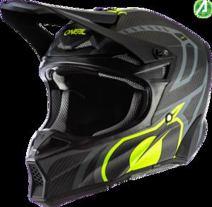O'NEAL 10SRS Carbon Helmet RACE V.20 Black/Neon yellow