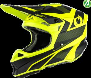O'NEAL 10SRS Hyperlite Helmet COMPACT V.21 Black/Neon gelb
