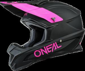 O'NEAL 1SRS Helmet SOLID V.21 Black/Pink