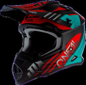 O'NEAL 2SRS Helmet SPYDE 2.0 V.20 Black/Teal/Red