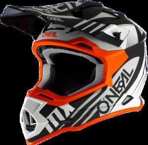 O'NEAL 2SRS Helmet SPYDE 2.0 V.20 Black/White/Orange