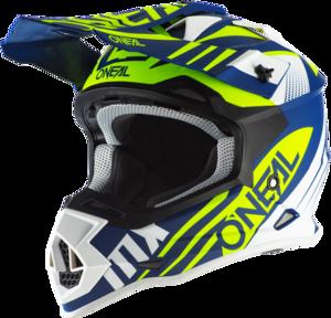 O'NEAL 2SRS Helmet SPYDE 2.0 V.20 Blue/White/Neon yellow