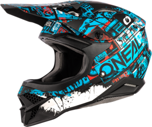 O'NEAL 3SRS Helm RIDE V.21 Schwarz/Blau