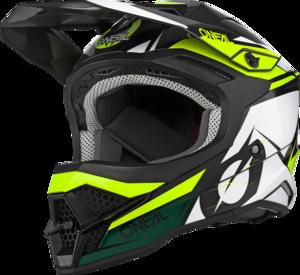 O'NEAL 3SRS Helm STARDUST V.20 Schwarz/Weiß/Gelb