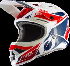 O'NEAL 3SRS Helm STARDUST V.20 Weiß/Blau/Rot