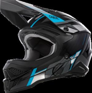 O'NEAL 3SRS Helm VISION V.21 Schwarz/Grau/Blau